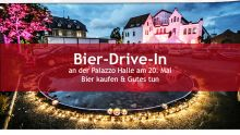 Bier-Drive-In an der Palazzo Halle